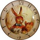 "1 & 3/8"" Glass Dome Button - AC 18 March Hare Clock"