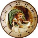 "1 & 3/8"" Glass Dome Button - AC 19 Alice in Chair Clock"