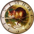 "1 & 3/8"" Glass Dome Button - AC 23 Cheshire Cat Clock"