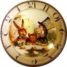 "1"" Glass Dome Button - AC 5 Tea Party Clock"