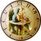 "1"" Glass Dome Button - AC 9 Caterpillar Clock"