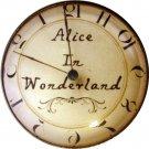 "1"" Glass Dome Button - AC 13 Alice in Wonderland Clock"