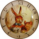 "1"" Glass Dome Button - AC 18 March Hare Clock"
