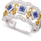 Peter Lam Sapphire and Diamond Band in 18k size 7