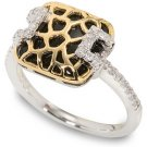 Peter Lam Leopard Diamond and Agate Ring size 6