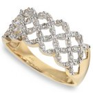 1/4ctw Round Diamond Lattice Ring 14-k size 7