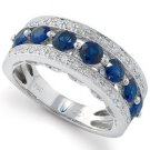 Peter Lam 1/5 ctw Diamond and Sapphire Band in 18K  size 6