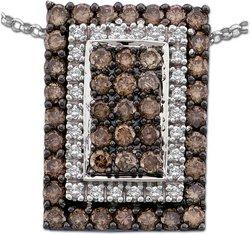 Arco Baleno 1 1/4 ctw Cognac Diamond Pendant  14-k