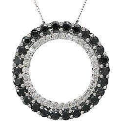 Arco Baleno 2 ctw Diamond Circle Pendant  14-k