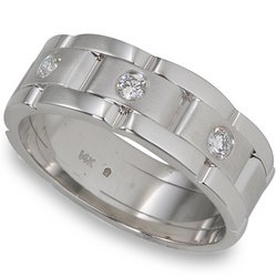 1/4 ctw Men's Round Diamond Band 14-k size 11