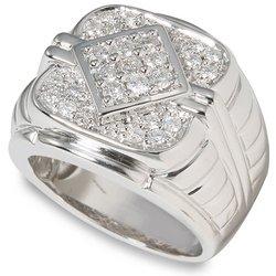 1 ctw Men's Round Diamond Ring  14-k size 10