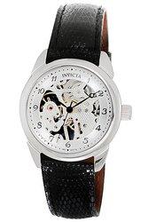 Invicta Skeleton Watch with Black Hands