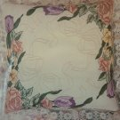 Lot of 2 Multi Floral Pillow Candlewicking Kit NEW