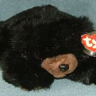 TY Beanie Buddy Baby Paws Black Bear 1996 Retired Free Shipping.
