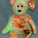 TY Beanie Baby Peace Bear 1996 Retired Free Shipping