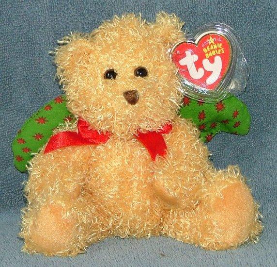 TY Beanie Baby Joyous Christmas Angel Bear 2006 Retired Free Shipping