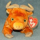 TY Beanie Baby Ox Zodiac Collection 2000 Retired Free Shipping