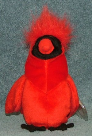 TY Beanie Baby Mac the Red Cardinal 1999 Retired Free Shipping