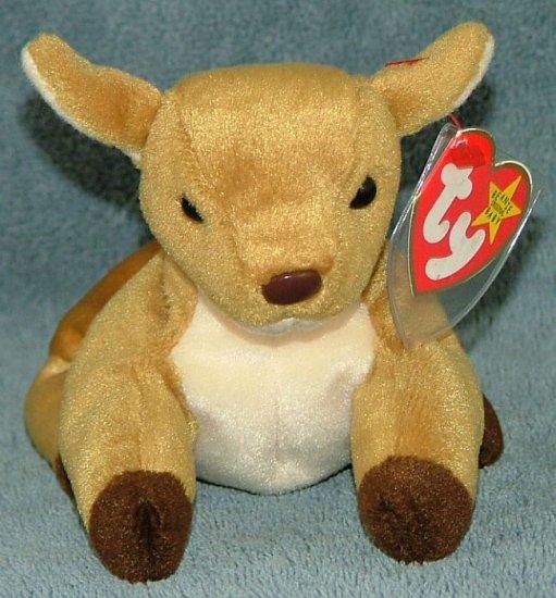 TY Beanie Baby Whisper the Deer 1998 Retired Free Shipping