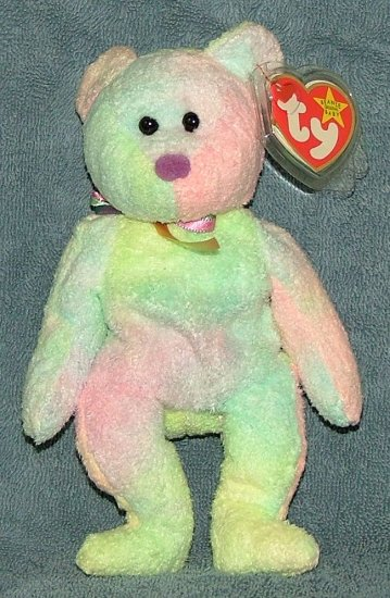 TY Beanie Baby Groovy the Bear 1999 Retired Free Shipping