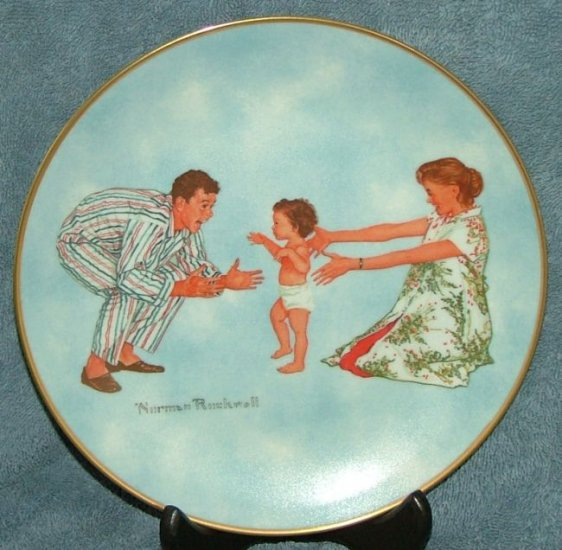 """Norman Rockwell Museum collector plate """"Babys First Step"""""""