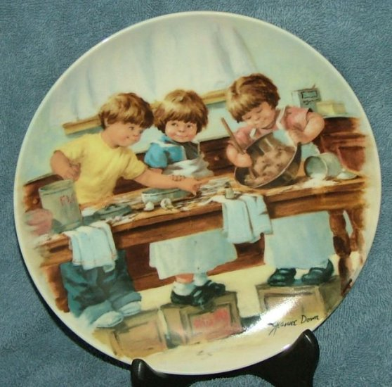 """Knowles collector plate """"The Taste Test"""""""