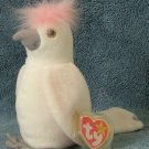 TY Beanie Baby KuKu the Cockatoo 1997 Retired Free Shipping