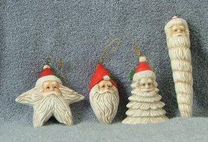 Christmas Around the World Set of 4 Santa Ornaments