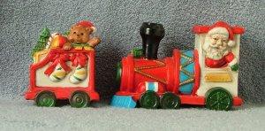 Midwest Bisque Train Car Santa Express Set of 4