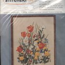 Vintage Golden Bee Stitchery Crewel Embroidery Meadow Flowers