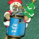Lof of 4 golf christmas ornaments 1989 thru 1992