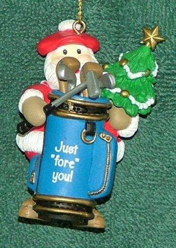 Lof of 4 golf christmas ornaments 1989 thru 1992