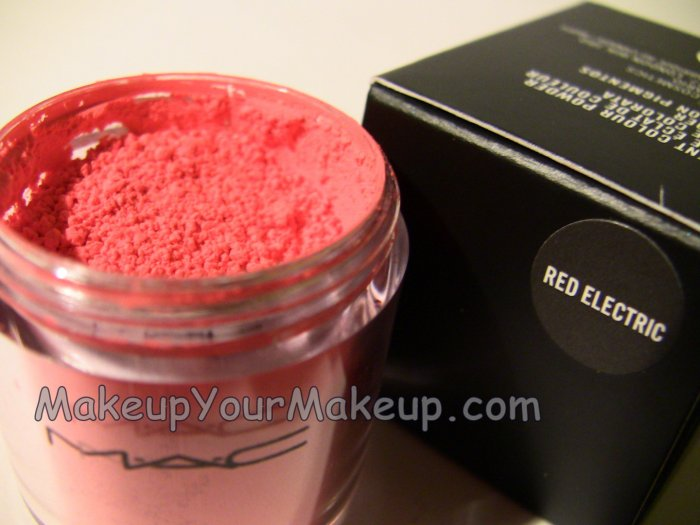 Red Electric MAC Pigment Sample