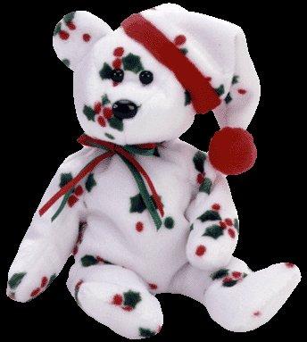1998 Holiday Teddy Bear,  Ty Beanie Baby - Retired