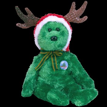 2002 Holiday bear,  Ty Beanie Baby - Retired