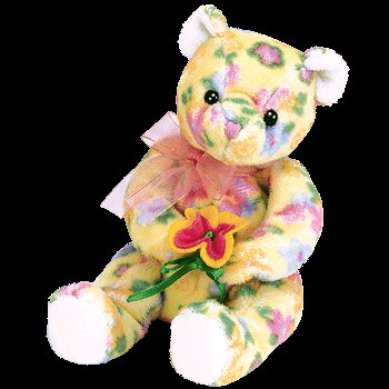 Bloom the bear,  Beanie Baby - Retired