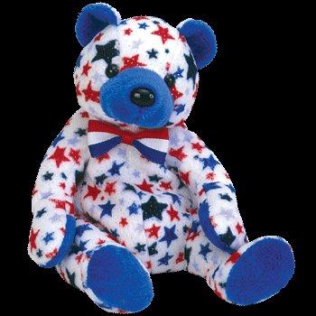Blue the bear,  Beanie Baby - Retired