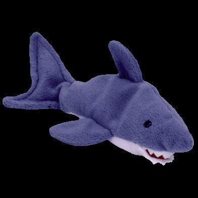 Crunch the shark,  Beanie Baby - Retired -