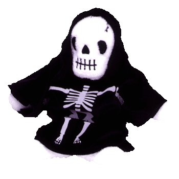 Creepers the skeleton,  Beanie Baby - Retired