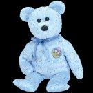 Decade the bear (blue),  Beanie Baby - Retired