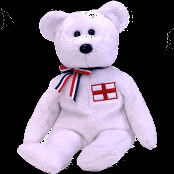England the bear (England Exclusive),  Beanie Baby - Retired