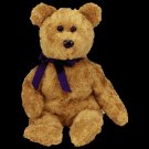 Fuzz the bear,  Beanie Baby - Retired