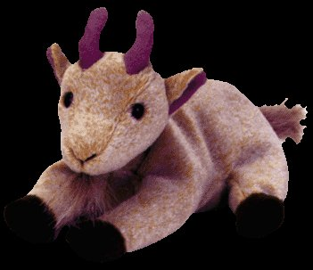 Goatee the mountain goat,  Beanie Baby - Retired