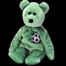 Kicks the soccer bear,  Beanie Baby - Retired