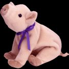 Knuckles the pig,  Beanie Baby - Retired