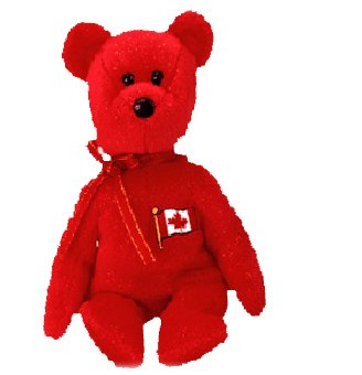 Pierre the bear (Canadian Exclusive),  Beanie Baby - Retired