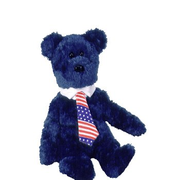 Pops the bear,  Beanie Baby - Retired