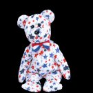 Red, White and Blue the bear,  Beanie Baby - Retired