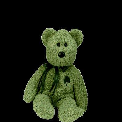 Shamrock the bear,  Beanie Baby - Retired