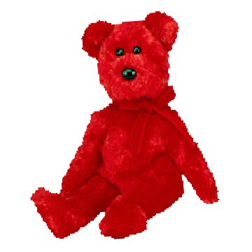 Sizzle the bear,  Beanie Baby - Retired